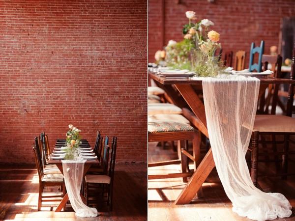 flour mill wedding table